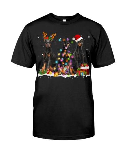 Doberman Pinscher-Snow-Christmas