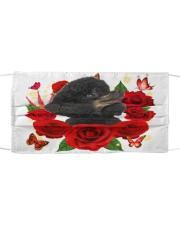 Poodle-Black-Face Mask-Rose Cloth face mask front