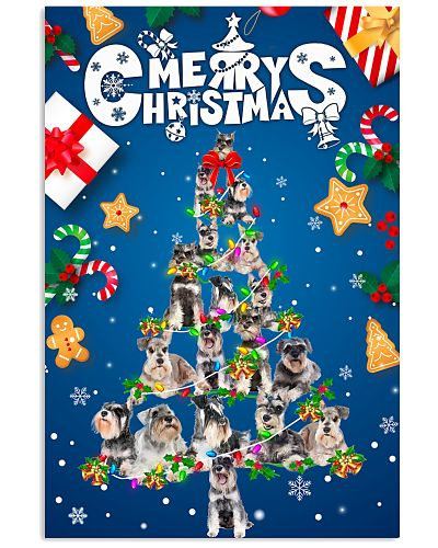 Miniature Schnauzer-Merry Christmas