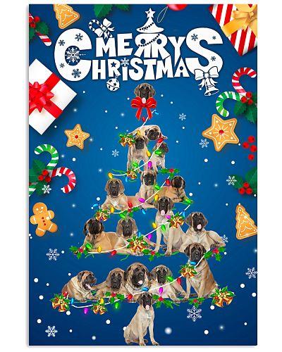 English Mastiff-Merry Christmas