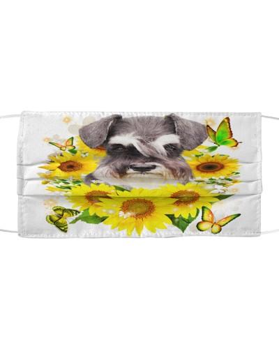 Schnauzer-Face Mask-Sunflower