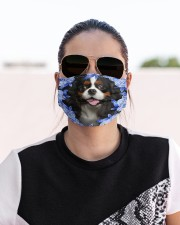Cavalier King Charles Spaniel-Blue Mask Cloth face mask aos-face-mask-lifestyle-02