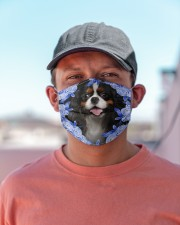Cavalier King Charles Spaniel-Blue Mask Cloth face mask aos-face-mask-lifestyle-06