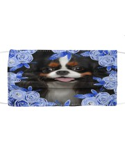 Cavalier King Charles Spaniel-Blue Mask Cloth face mask front