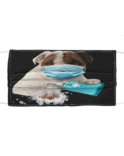 English Bulldog-Face Mask-Wash