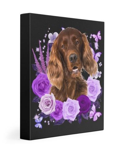 Irish Setter-Canvas Purple