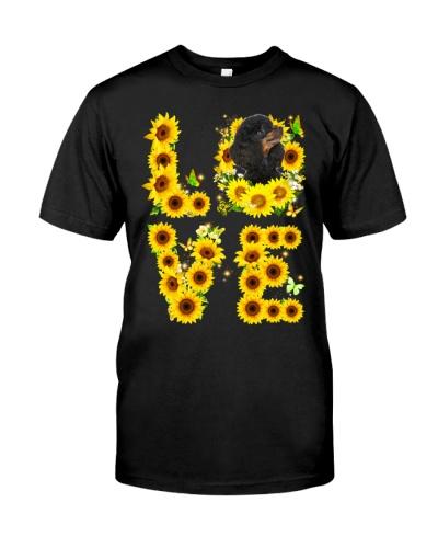 Poodle-Black-Love Sunflower