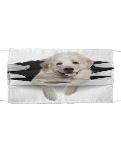 Great Pyrenees-Face Mask-Torn03