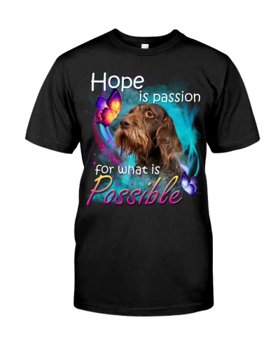 German Wirehaired Pointer-Hope Is Passion