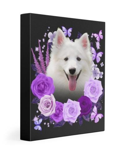 American Eskimo-Canvas Purple