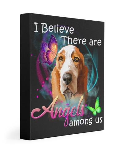 Basset Hound-Art-Canvas Angels