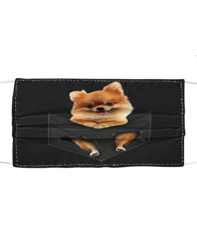 Pomeranian-Face Mask-Pocket