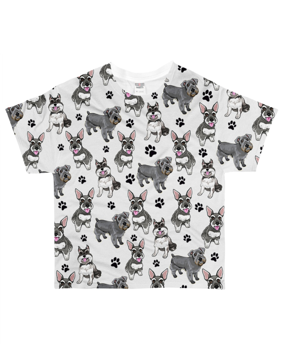 Schnauzer - Paw All-over T-Shirt