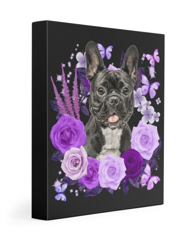 French Bulldog-02-Canvas Purple