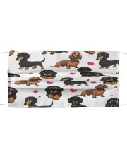 Dachshund-Face Mask-Heart Cloth face mask front