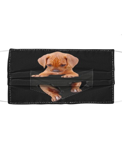 Rhodesian Ridgeback-Face Mask-Pocket