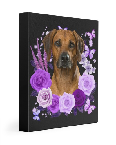 Rhodesian Ridgeback-Canvas Purple