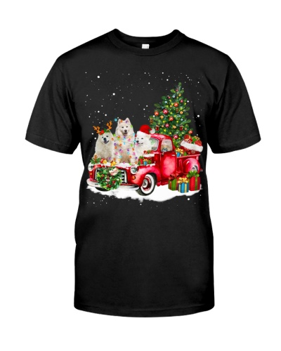 Samoyed-Christmas Car