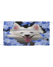 American Eskimo-02-Blue Mask Cloth face mask front