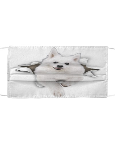 American Eskimo-Face Mask-Torn02