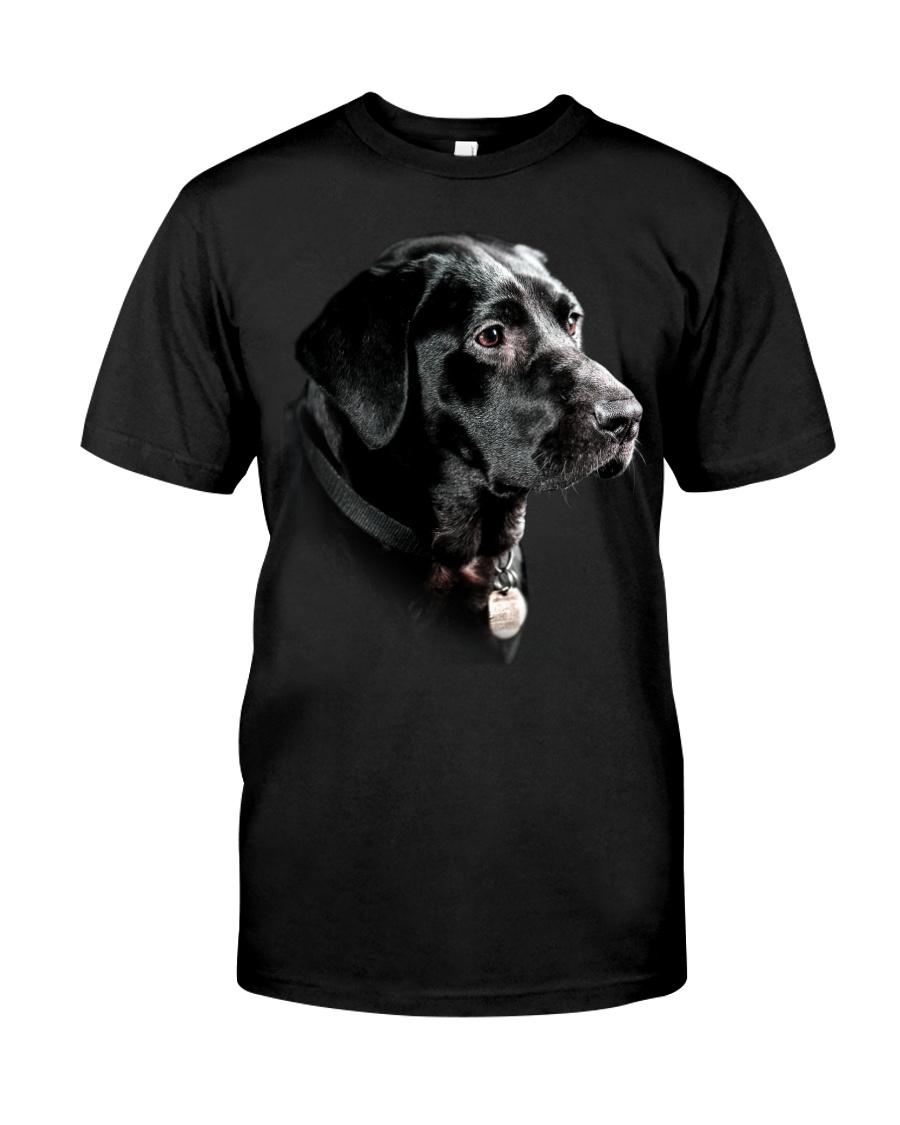 Labrador-Black - Only Face Classic T-Shirt