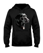 Labrador-Black - Only Face Hooded Sweatshirt thumbnail