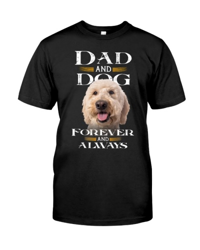 Goldendoodle-Dad And Dog