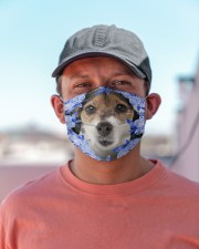 Parson Russell Terrier-Blue Mask Cloth face mask aos-face-mask-lifestyle-06