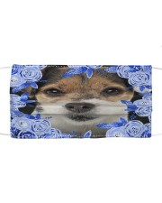 Parson Russell Terrier-Blue Mask Cloth face mask front