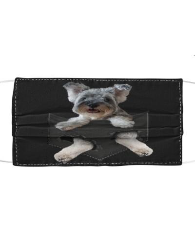 Miniature Schnauzer-Perper-Face Mask-Pocket