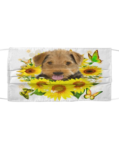 Airedale Terrier-Face Mask-Sunflower