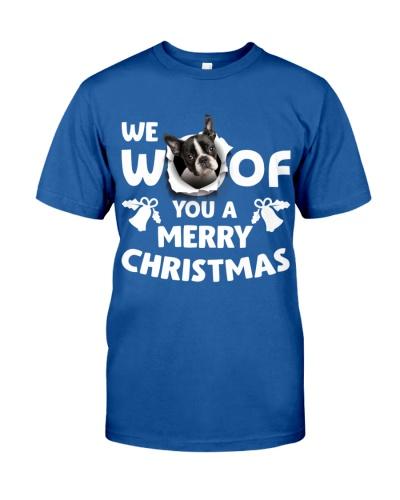 Boston Terrier-Merry Xmas