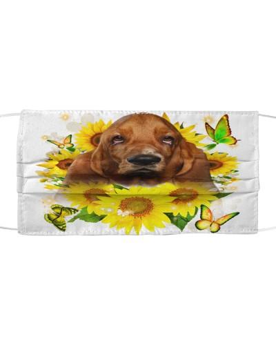 Basset Hound-Face Mask-Sunflower