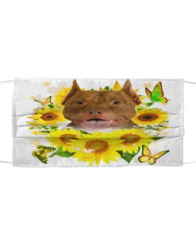 American Pit Bull Terrier-Face Mask-Sunflower