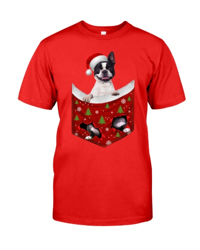 Boston Terrier-Xmas-Pocket