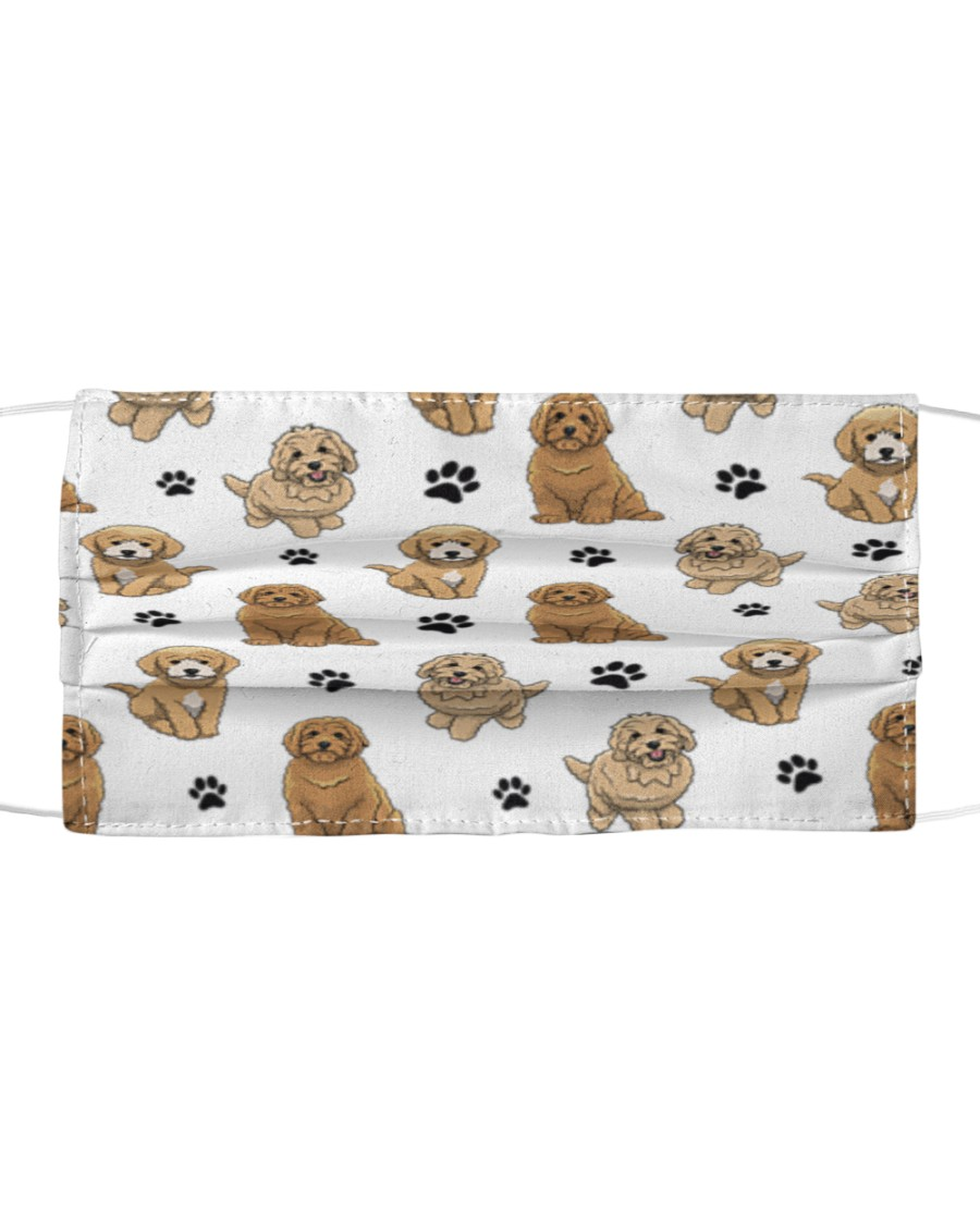 Goldendoodle-Face Mask-Paw Cloth face mask
