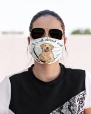 Labrador Retriever-All About Me Cloth face mask aos-face-mask-lifestyle-02
