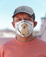 Labrador Retriever-All About Me Cloth face mask aos-face-mask-lifestyle-06