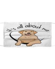 Labrador Retriever-All About Me Cloth face mask front