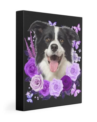 Border Collie-Canvas Purple