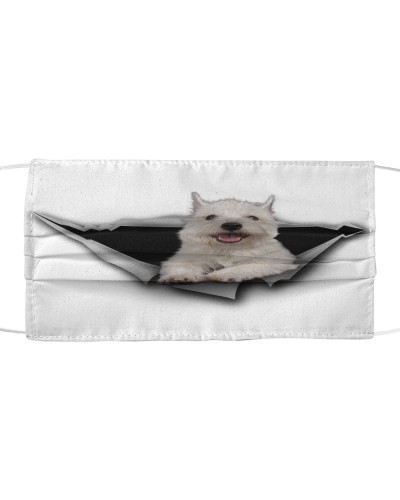 West Highland White Terrier-Face Mask-Torn