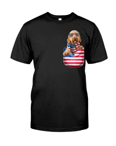 Goldendoodle-Flag Pocket