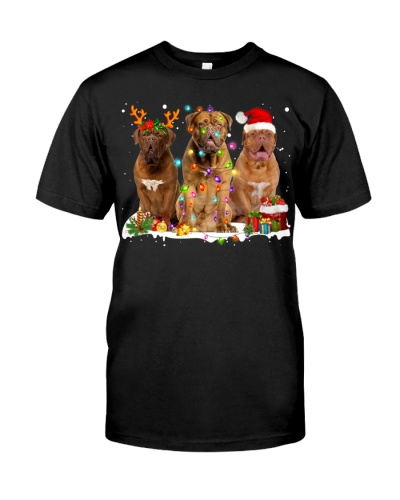 Dogue de Bordeaux-Snow-Christmas