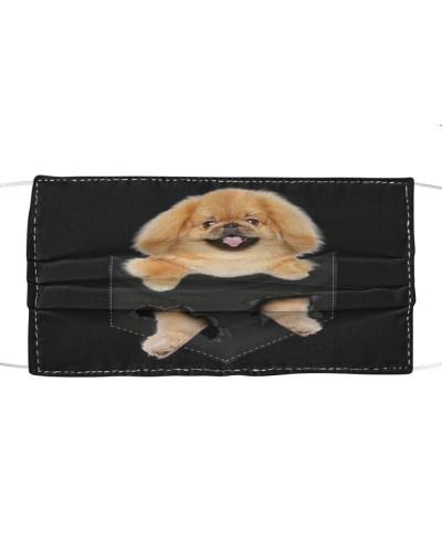 Pekingese-Face Mask-Pocket