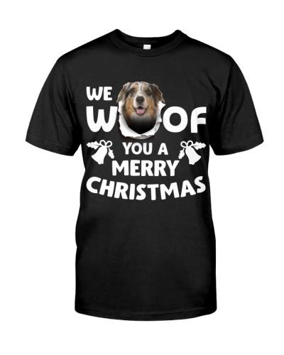 Australian Shepherd-Merry Xmas