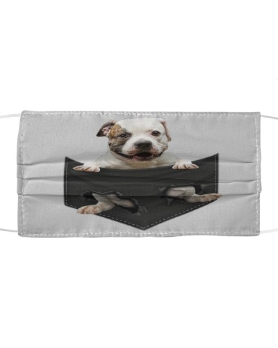 American Bulldog-Face Mask-Pocket