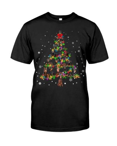 Doberman-Christmas Tree