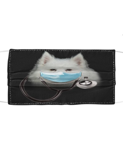 American Eskimo-Face Mask-Doctor