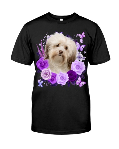 Havanese-02-Purple Flower