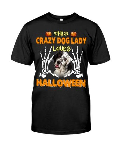 English Setter-Loves Halloween